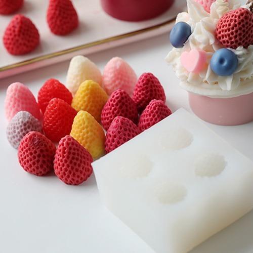 수제몰드 - 딸기 (4구) 과일몰드