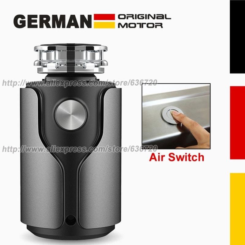년의 기능 음식물 쓰레기 처리기 독일 1200W 모터 기술 정화조 지원 1 HP 가정용 쓰레기 처리기, 협력사, 회색 공기 스위치 (POP 5645116964)