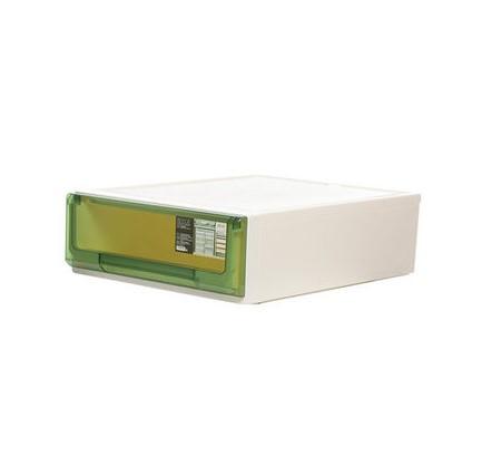 침대협탁 플라스틱 서랍식 수납장 캐비닛 국다용도 침대헤드 장난감 옷가지 문서 자유롭게조합가능, C02-5114투명한 그린 18리터