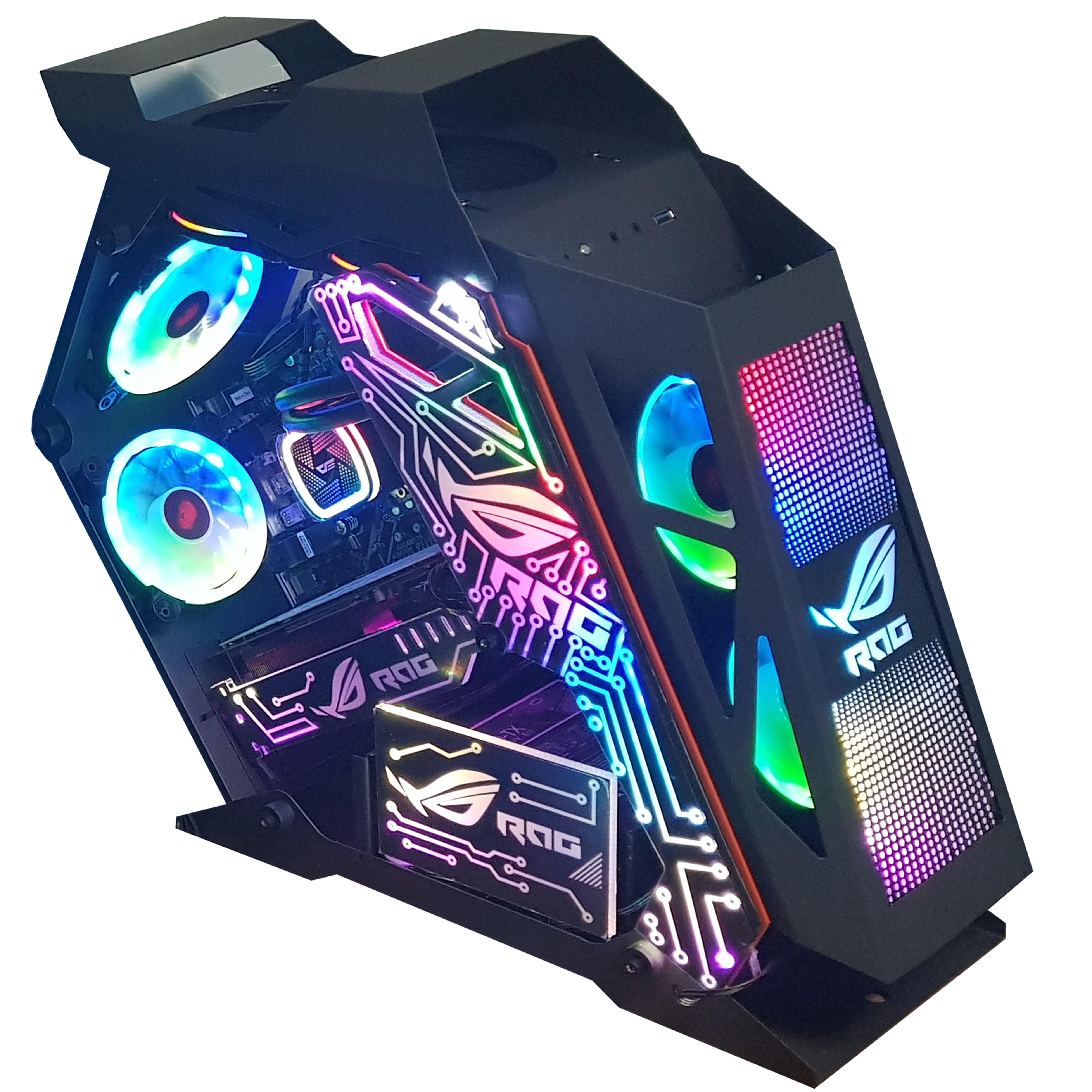 인싸컴 메탈유닛 LED 고사양 게임용pc 배틀그라운드 배그 오버워치 롤 배그컴퓨터, 기본, 블랙