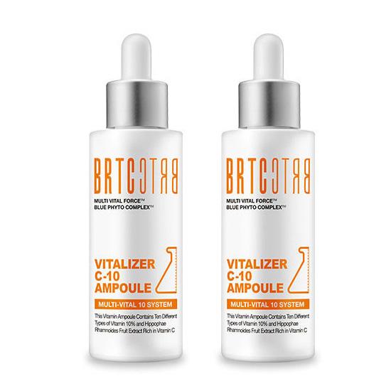 BRTC 비타민 C10 미백 앰플 에센스 대용량 50ml, 2개