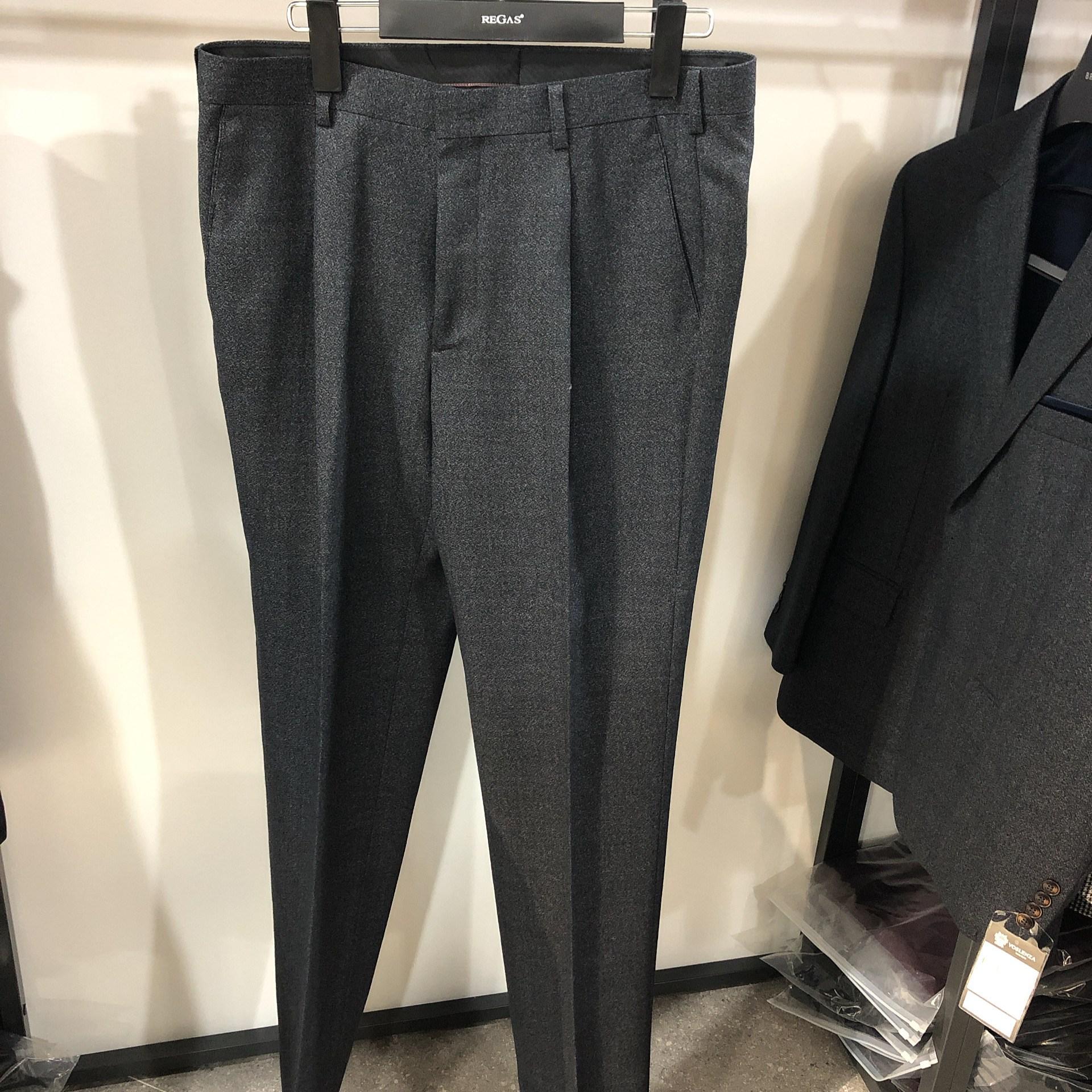 [행복한백화점][보스렌자]남성 기본라인 겨울용 정장팬츠 슬랙스 멜란지그레이 RAFPA1142