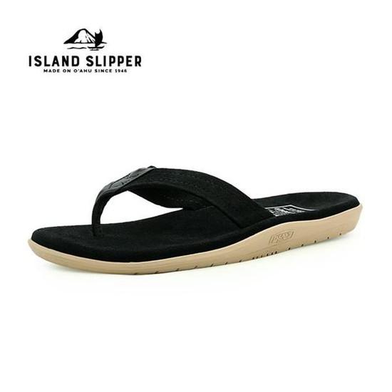 아일랜드 슬리퍼 스웨이드 BLACK/BLACK-PT203SL