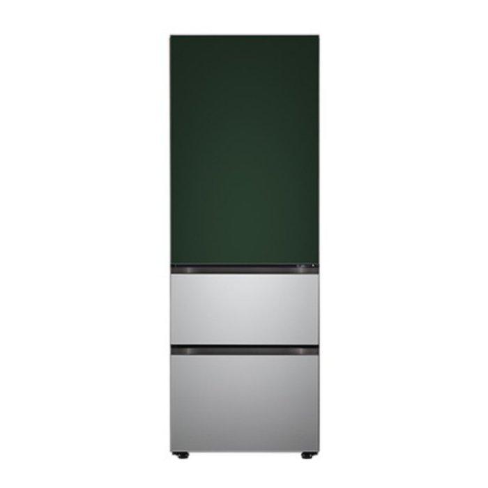 LG전자 오브제 3도어 김치냉장고 Z330SGS151 [323L/스탠드형/그린실버]