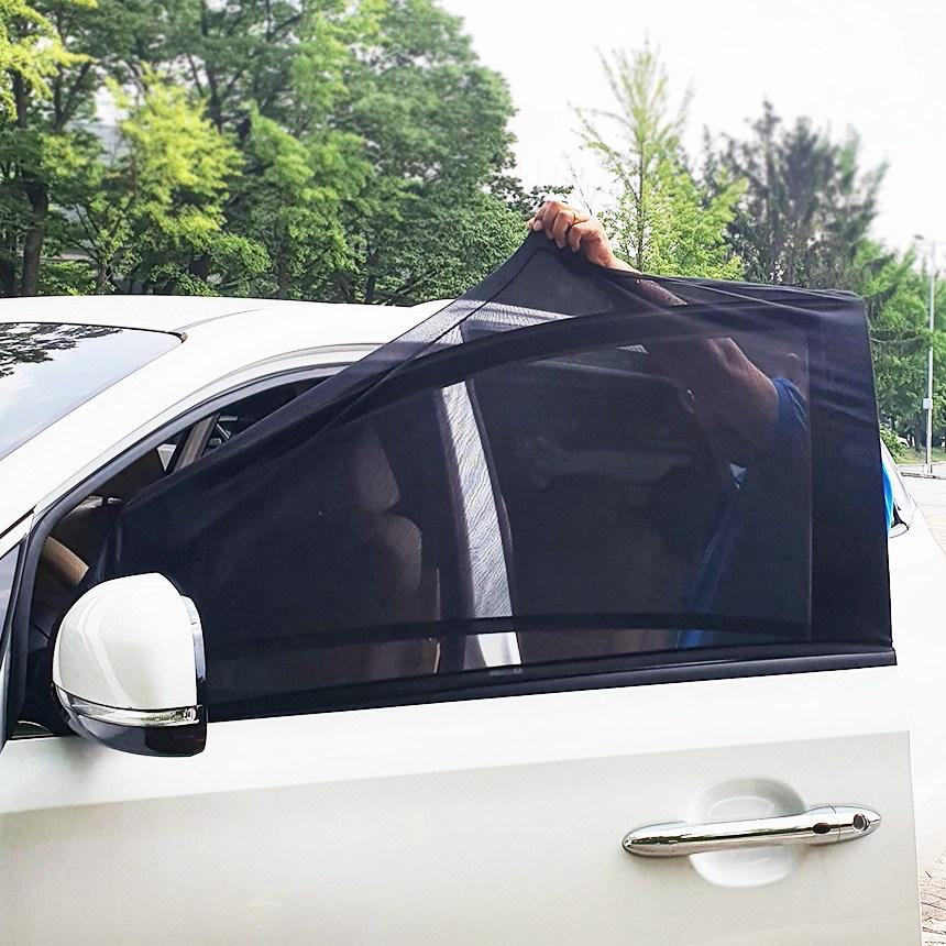 공구몬 [2개 1세트] 차량용 차박 모기장 방충망 햇빛가리개 자동차 창문 팰리세이드 쏘렌토 싼타페 티볼리 스포티지 모하비 아반떼 쏘나타 그랜저 K3 K5 K7 K9 모닝 레이 스팅어 스토닉 쏘울 니로 셀토스 SUV, 2개, 뒷문L