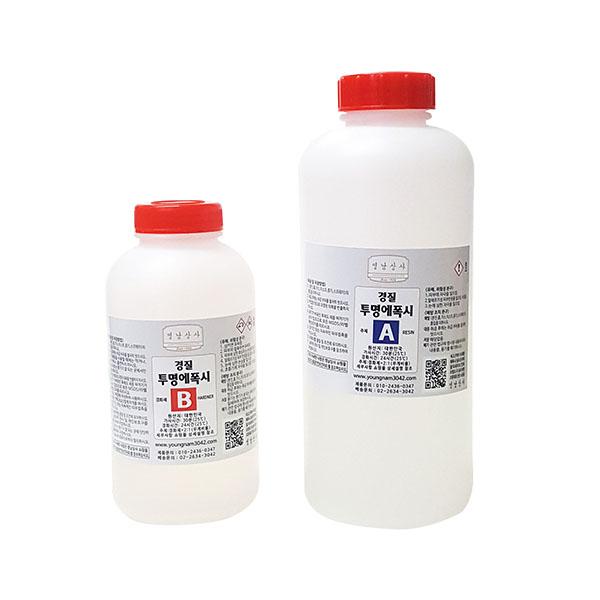 투명 에폭시 1kg/EPOXY 레진 공예 수지 접착제/경질, 투명에폭시 1kg/경질