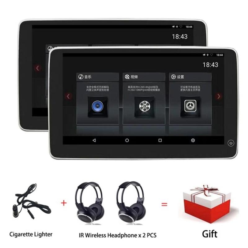 자동차 모니터 멀티미디어 오디오 새로운 11.6 인치 와이드 IPS 터치 스크린 무선 WiFi 블루투스 USB 안드로이드 9.0 자동차 머리 받침 DVD BMW F01 용 특별, 2 개