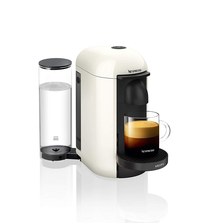 네스프레소 버츄오 플러스 캡슐 커피머신 Krups 화이트 블랙, XN9031
