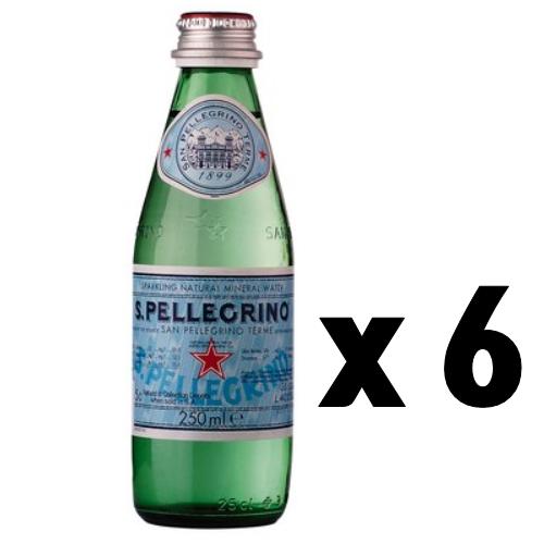 산펠레그리노 250ml*6 이탈리아에서 온 산펠그리노 탄산수, 6개, 250ml