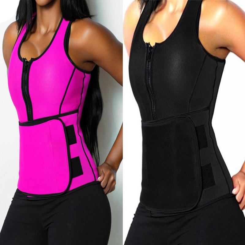 허리 지원 조끼 바디 셰이퍼 슬리밍 트레이너 핫 패션 운동 shapewear 조정 가능한 땀 벨트 코르 셋 s-4xl, Black, 엘 (POP 4800074356)