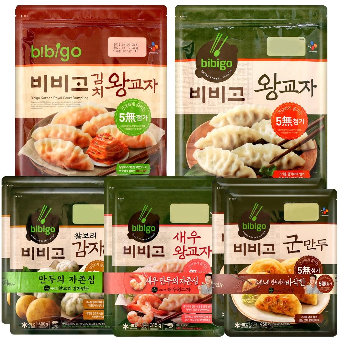 비비고 만두기획 왕교자 김치 새우 군만두 찰보리감자, 03 (CJ) 비비고 만두 C 세트