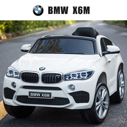 씨투엠뉴 BMW X6M 유아전동차 풀옵션 아기자동차, 화이트