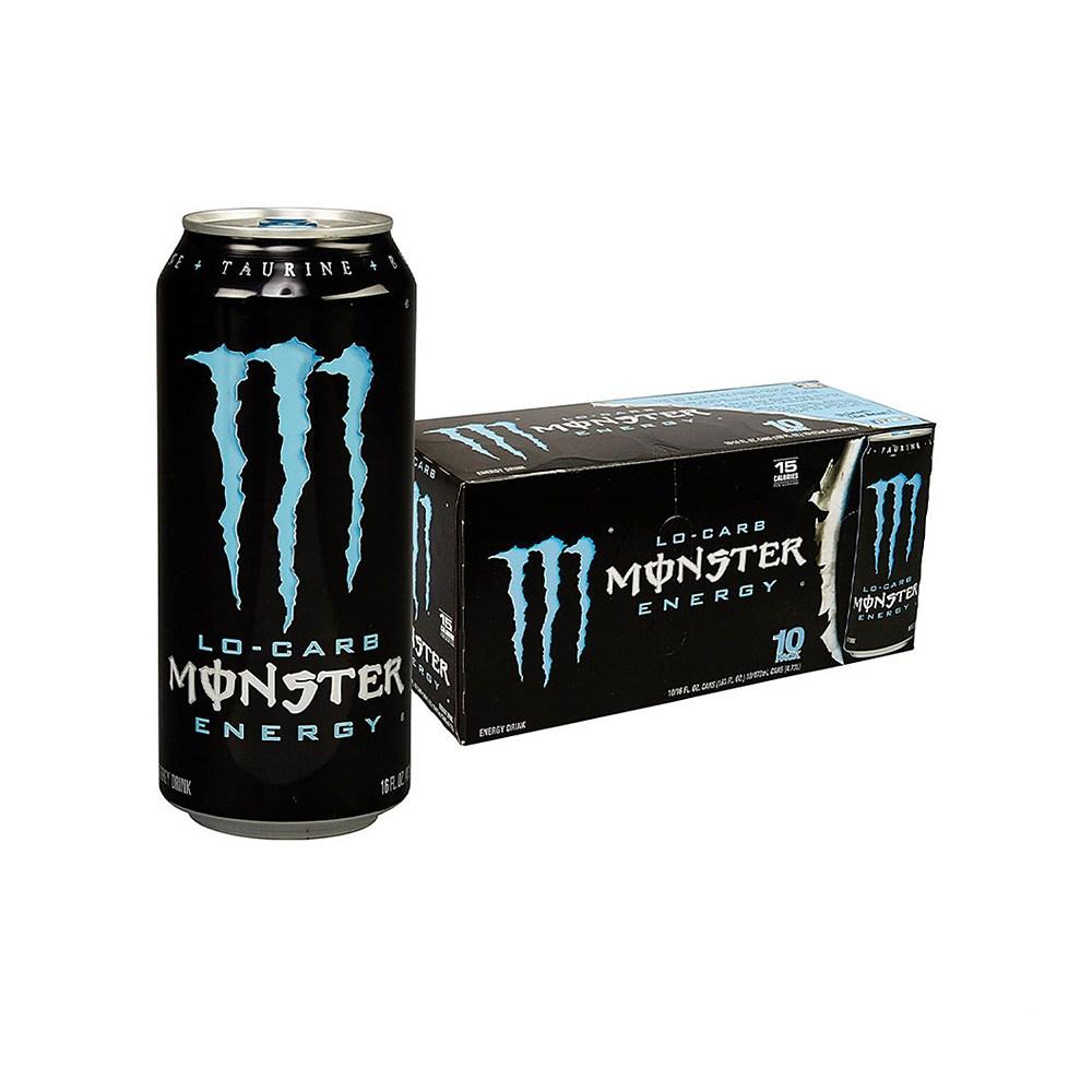 몬스터 Monster Energy Drink 저칼로리 에너지 드링크 16oz(473ml) 20팩, 1개, 1ml