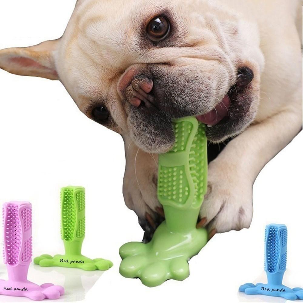 레서판다 강아지 애견 셀프 칫솔 양치 입냄새 치석제거 스케일링 장난감, 셀프칫솔 그린