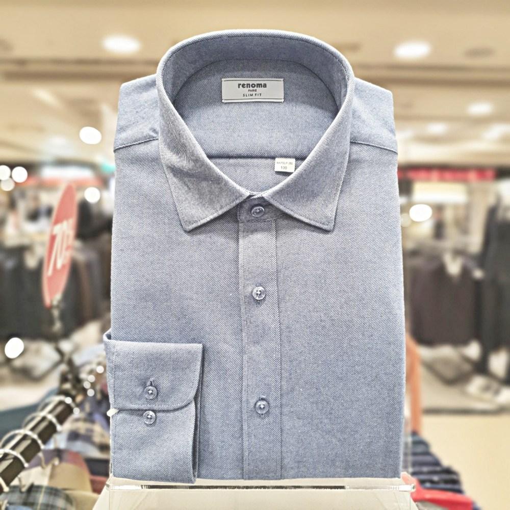 레노마 셔츠 #무료 배송#2020년 특가#기모 포근하고 따뜻한 멜란 트월 솔리드 슬림핏