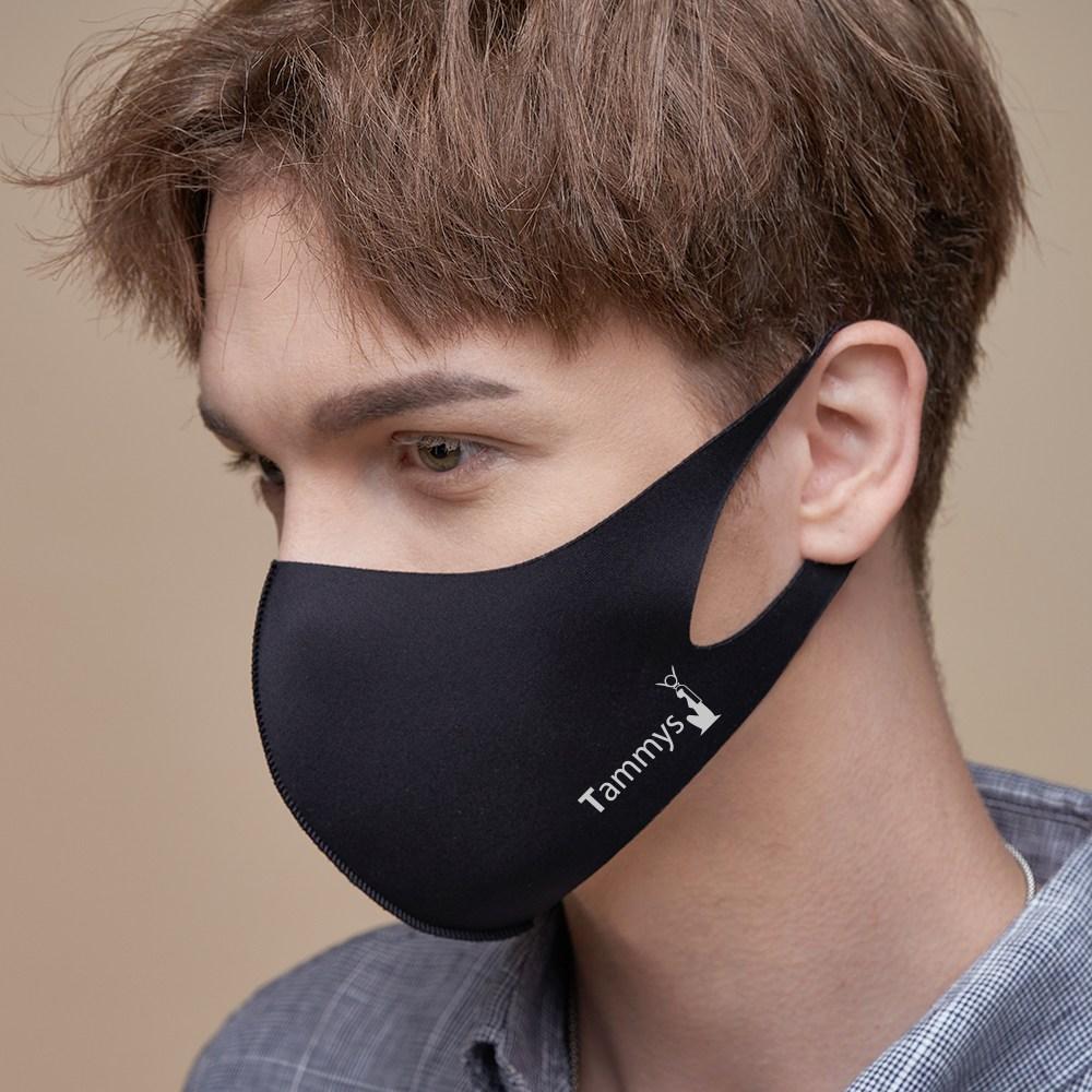 1+1 남성용 태미스 3D 연예인 패션 새부리형 비말차단 항균 UV 마스크 마스크스트랩 2개 증정, 1box, 1매