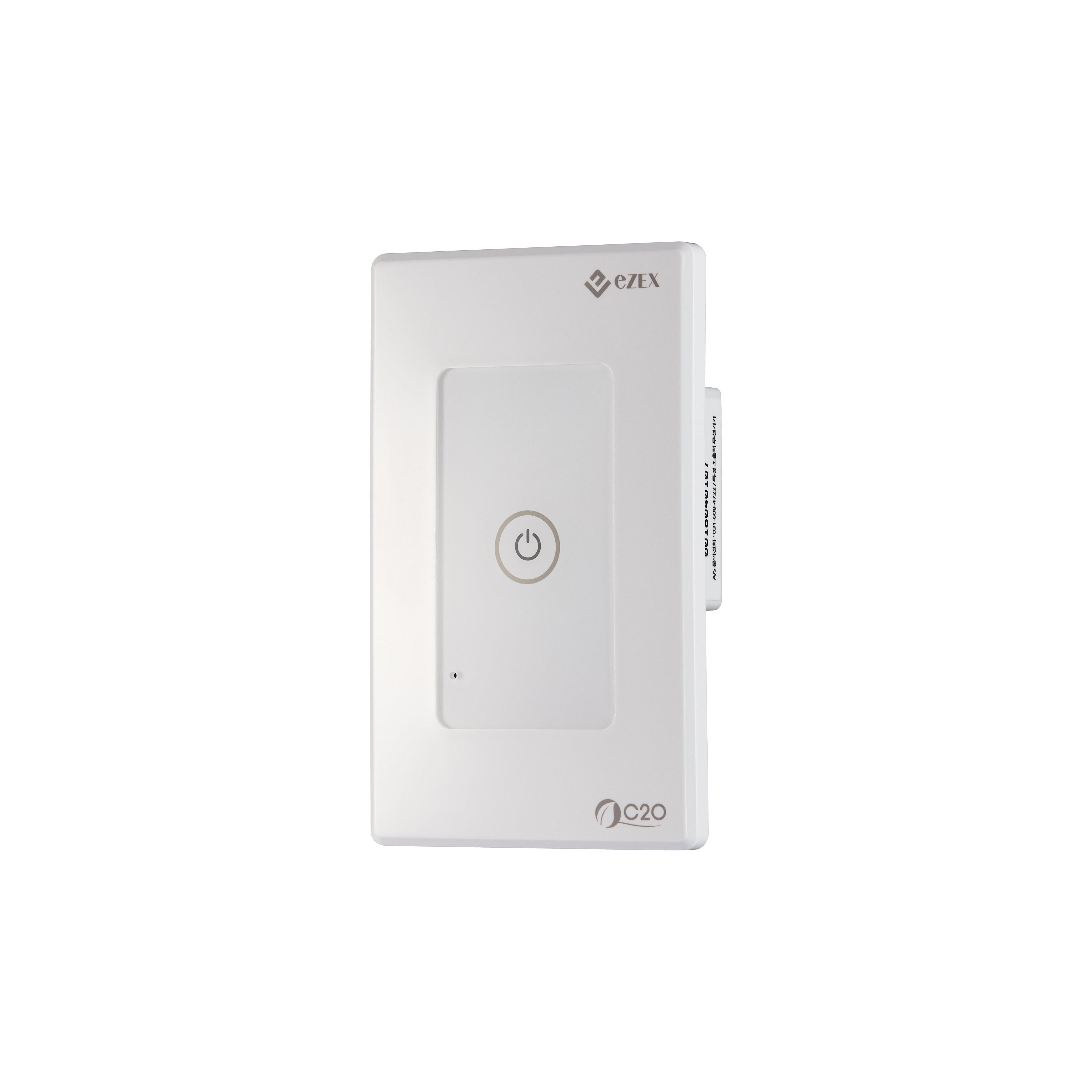 [C2O] WiFi 스마트 전등 스위치(1구) 구글 어시스턴트 네이버 클로바 카카오홈 연동 무선 전등스위치, 1개