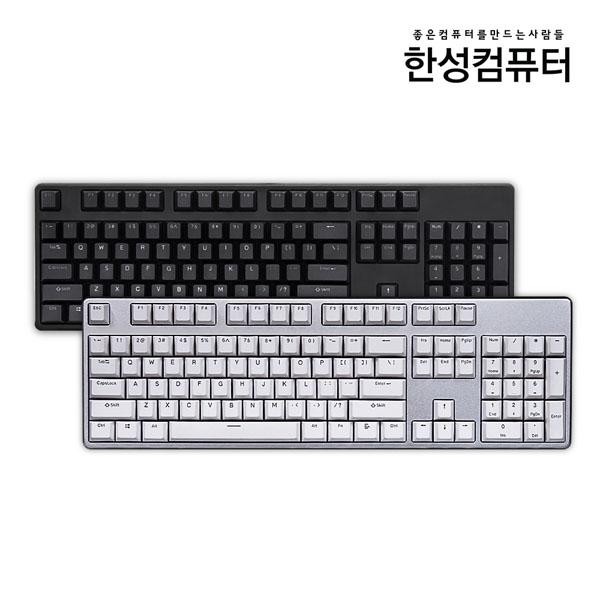 한성컴퓨터 TFG ARF 체리 게이밍 영문 기계식 키보드 블랙 (적축), 선택하세요