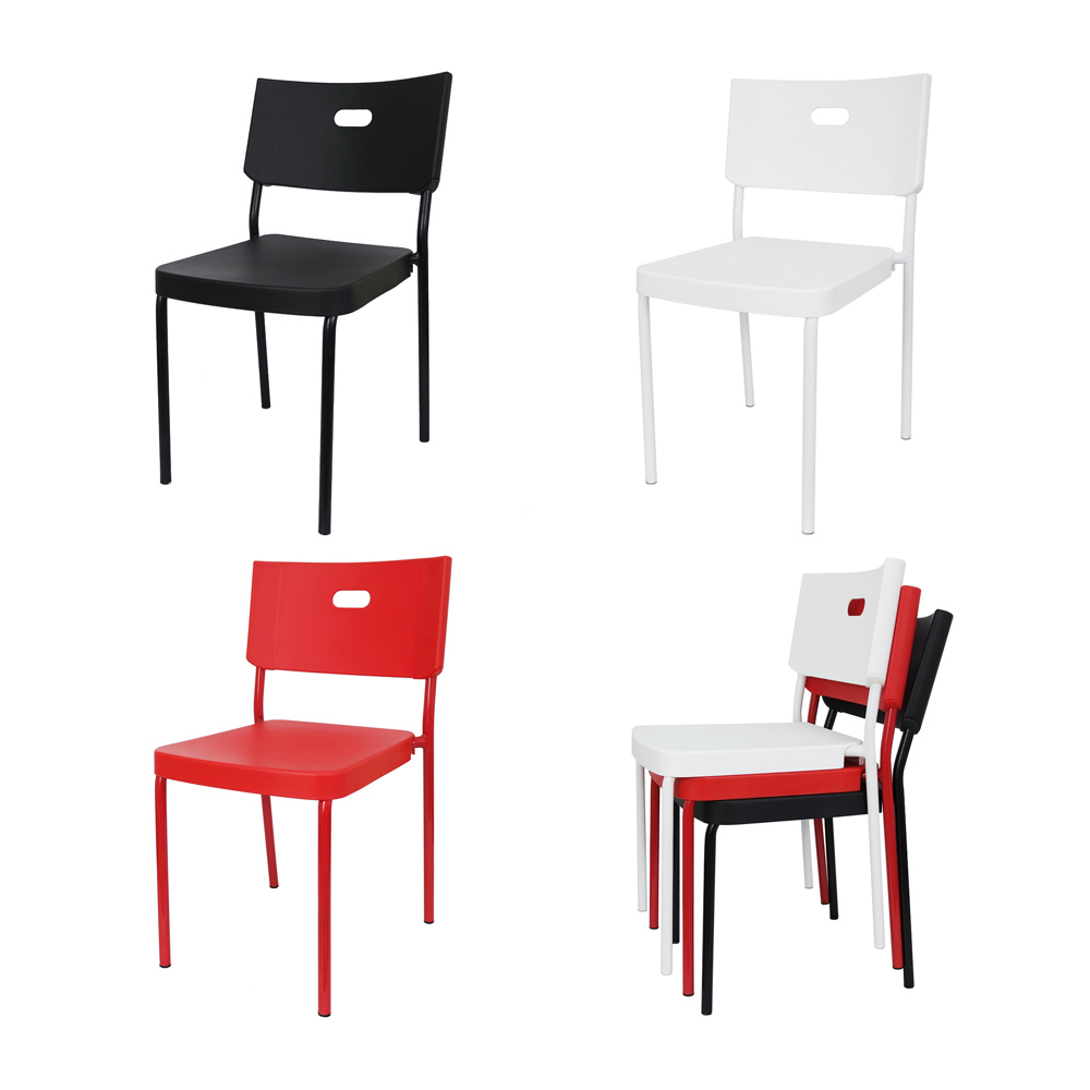 레고 1+1 사출 플라스틱 카페 학원 강의실 인테리어의자, 레고체어-레드1+1