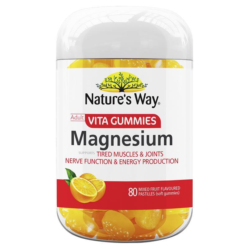 호주 네이쳐스웨이 비타구미 마그네슘 80정 젤리