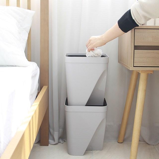 DM 분리수거대 홈쇼핑 분리수거함 원룸 아파트 분리수거 2단 3단 4단, 재활용통-베이지(대)