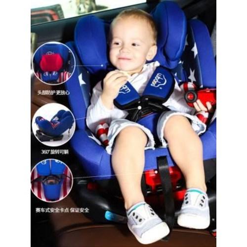 카시트 아기 안전 시트 자동차용 간이 휴대용 어린이는 누운 채로 0-4-12세 유아를 360도 회전시켜 앉을 수 있다, 01 아메리칸 리더(IOSFIX+LATCH