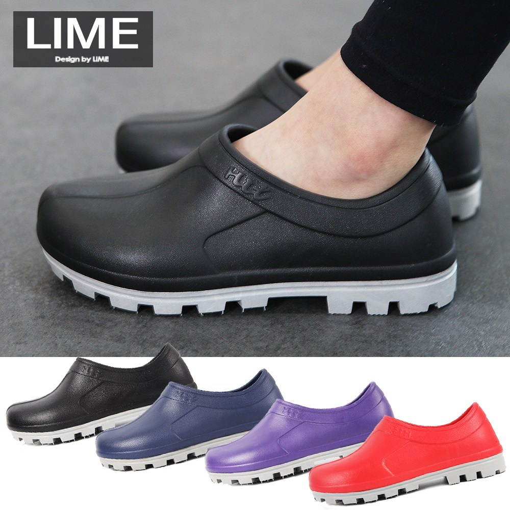 키엘노엘 여성 남성 미끄럼방지 주방화 조리화 주방 위생 장화 고무 슬리퍼 신발