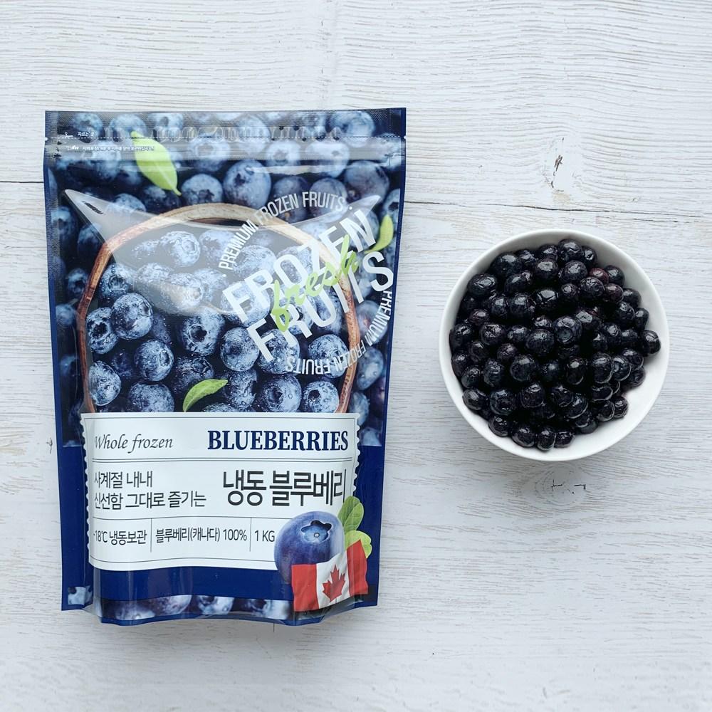 델파이팜 A등급 냉동 블루베리 1kg 4봉 캐나다, 4개-9-5494099364