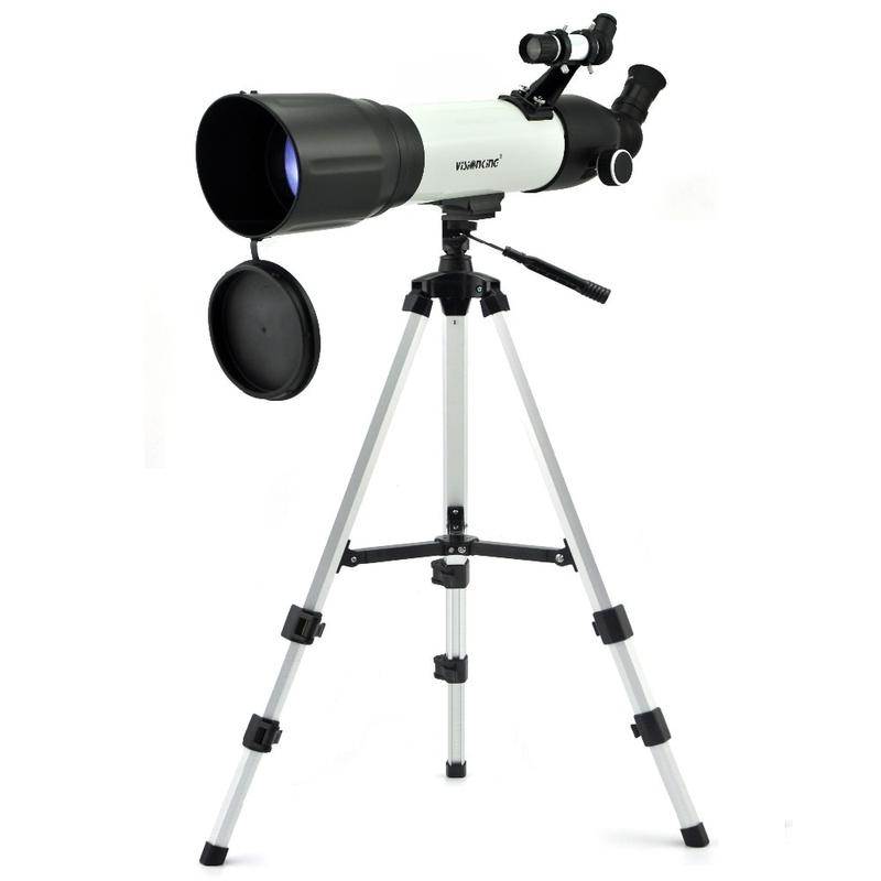 Visionking CF 90500 500 90mm 야외 단안 우주 천체 망원경 삼각대가있는 망원경 굴절 우주 망원경 299