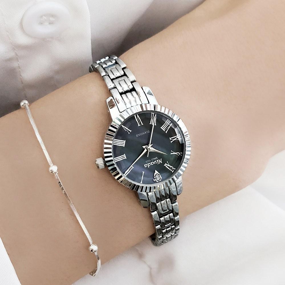 NIVADA 니바다 여성용 다이아몬드 메탈시계 3종 중 택1 쇼핑백 증정