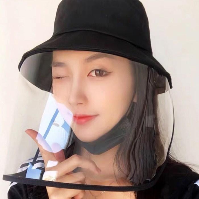 갓샵 방역 모자 버킷햇 [탈부착가능 남녀공용 벙거지 썬캡 안면 얼굴 보호 비닐 모자]