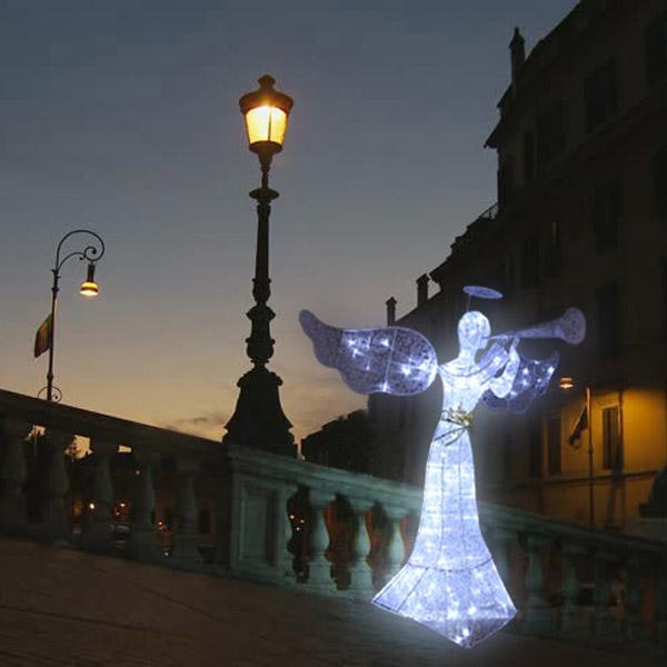 LED조형물 나팔부는천사 150cm, 단품