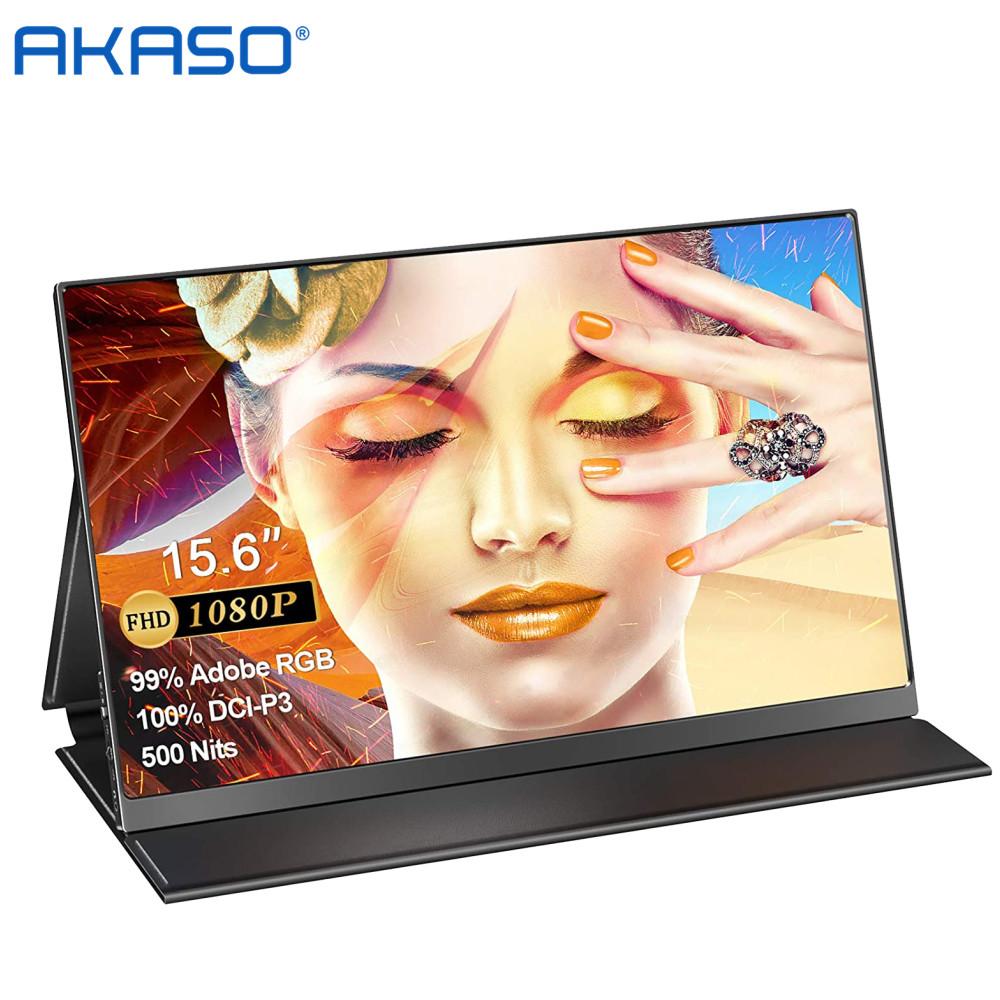 아카소 39.6cm 1080P FHD 휴대용 모니터 블랙[1년/AS], T15A