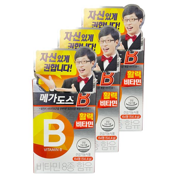 [고려은단헬스케어] [본사직영]고려은단 비타민B 메가도스B 64정 x 3개, 상세 설명 참조, 상세 설명 참조