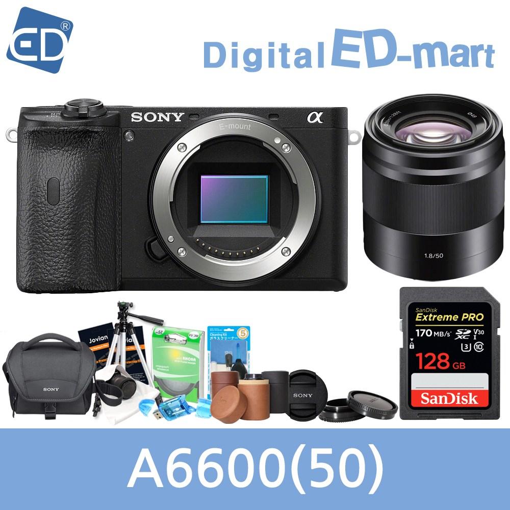 소니 A6600 16-50mm 128패키지 미러리스카메라, 09 소니A6600블랙+50mm렌즈 +128GB + 소니가방 풀패키지