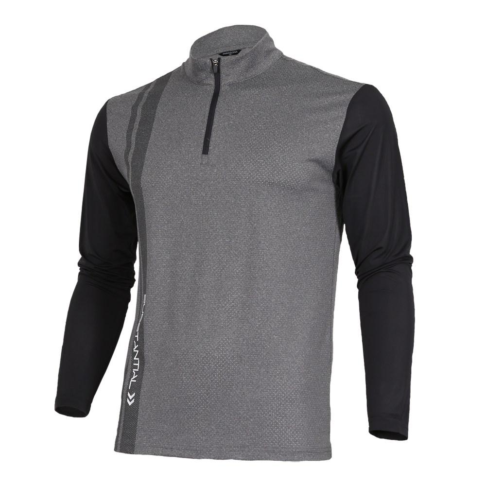 늑대와여우 남성 봄 여름 기능성 긴팔 티셔츠 배색 골프웨어 등산복 낚시 아웃도어 상의 작업복티셔츠