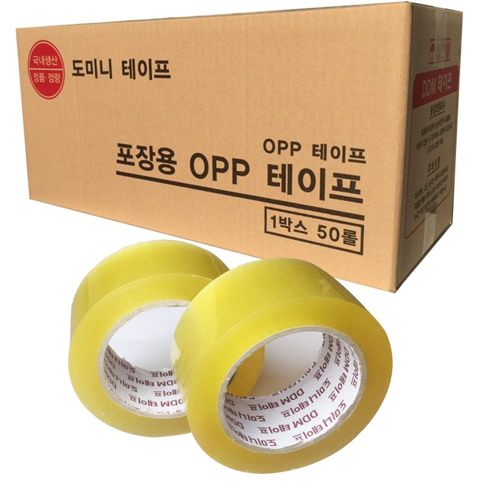 도미니 투명 박스테이프 80M 중포장 왕테이프 고품질, 40개