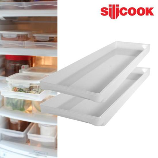 실리쿡 냉장고 수납 슬라이딩 트레이 2개
