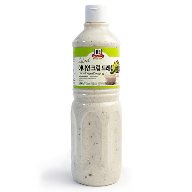 코스트코 맥코믹 어니언 크림 드레싱 1kg 마요네즈 소스 (아이스박스+아이스팩 포함)