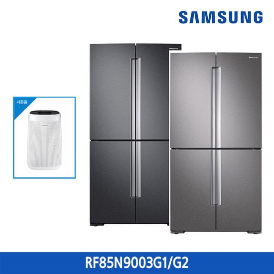 삼성 지펠 냉장고 T9000 4도어 856L RF85N9003G1/RF85N9003G2 + 삼성 공기청정기 증정, 색상:다크 그레이