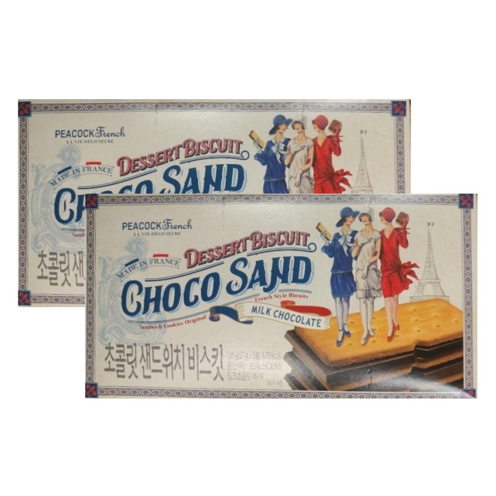 피코크 진하고 맛있는 초콜릿 샌드위치 135g x 2개 초코샌드위치