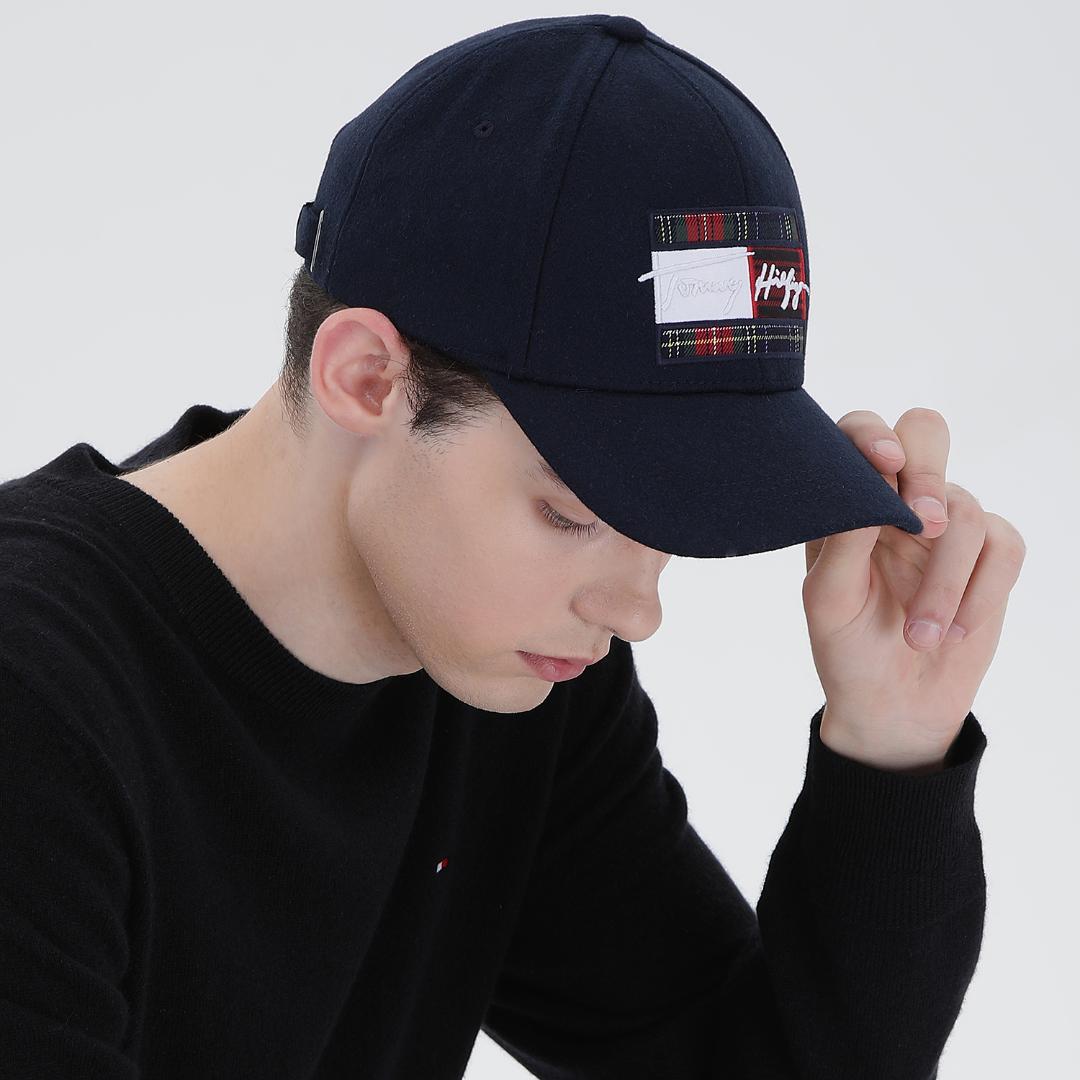 타미힐피거 시그니처 플래그 볼캡 모자 T12A7AHT110MT1 DW5