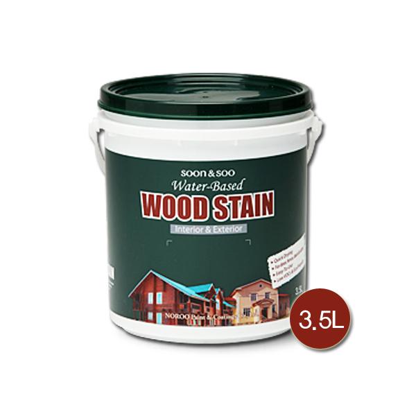노루페인트 목재 방부목용 순앤수 우드스테인 3.5L 무광, 도토리색