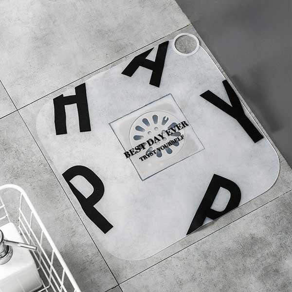 리빙스토리 1+1 대형 화장실 하수구 덮개, 덮개-알파벳+알파벳