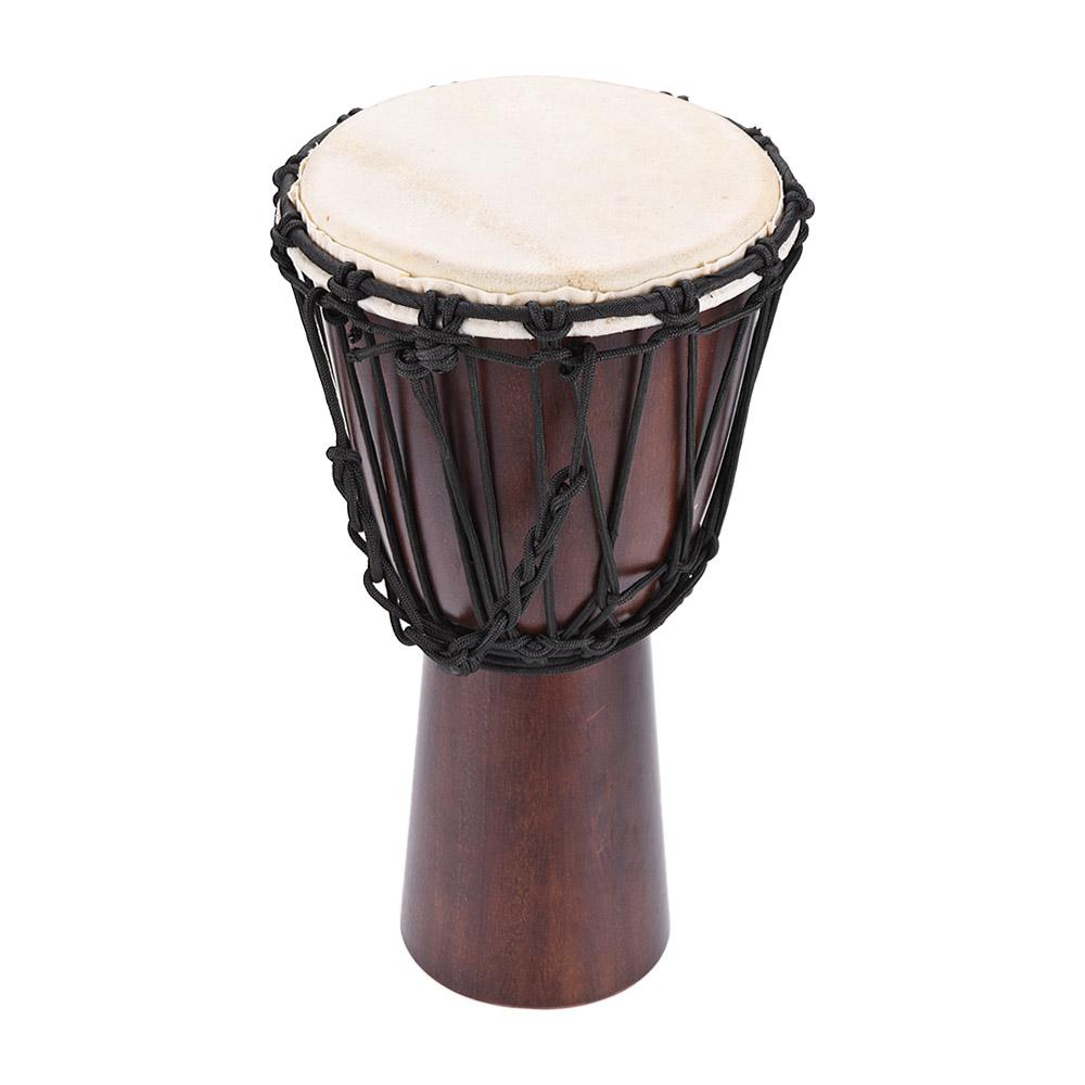 Weiketerui 전문 젬베 손 드럼 골동품 색의 나무 및 8 인치 양피 소재