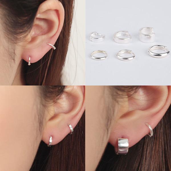 제이엠코 실버 미니원터치귀걸이 귓바퀴 남자 여자 귀걸이