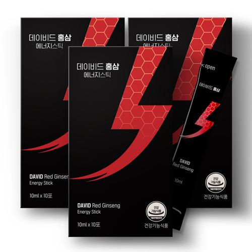 데이비드홍삼 에너지스틱 3팩 (10ml x 30포)