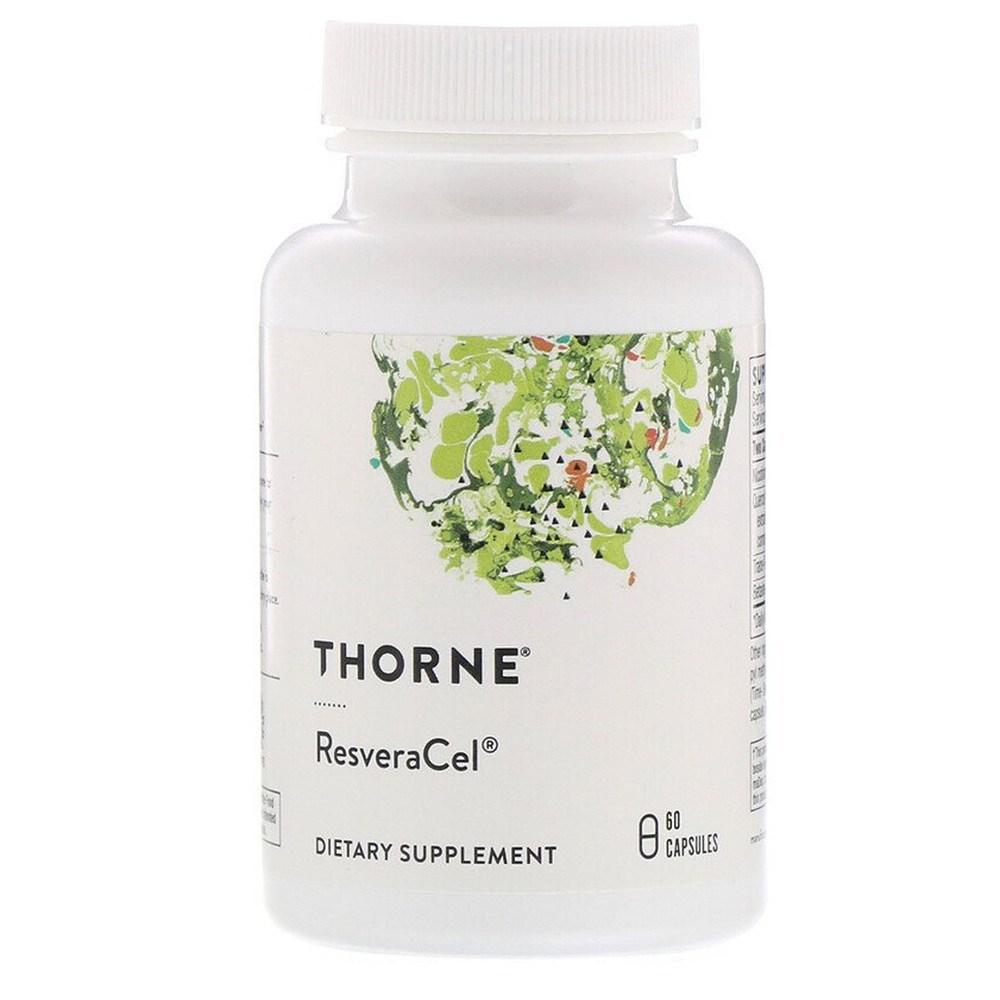 Thorne Research 쏜리서치 레스베라셀 ResveraCel 60캡슐, 1팩, 60개입