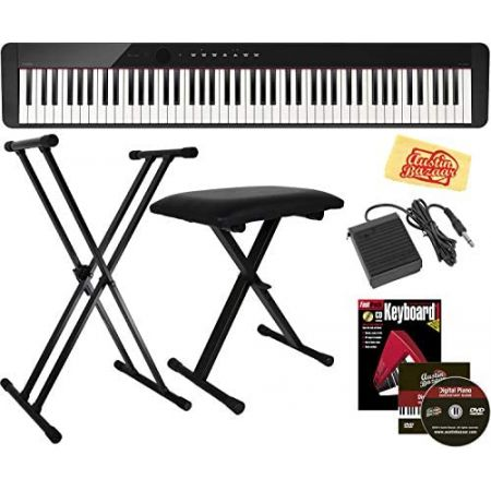 Casio Privia PX-S1000 Digital Piano - Black Bundle with Adjustable Stand Bench Sustain Pedal Inst, Bundle w Adjustable Stand_PXS1000BK
