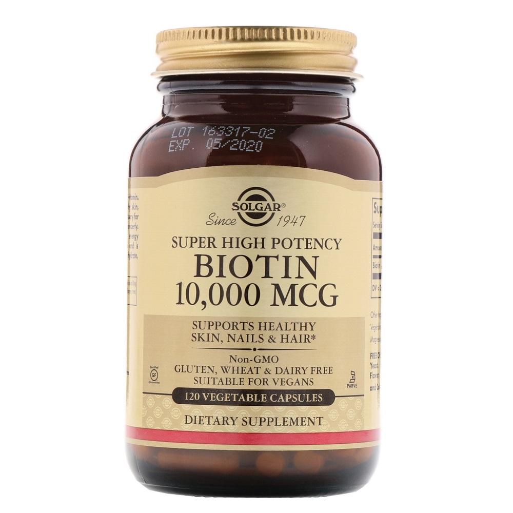 솔가 비오틴 10000 mcg 120정 (식물성캡슐) Solgar Biotin 120 vegetable capsules, 1개